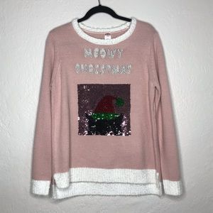 Cat Lover Ugly Christmas Sweater - Meowy Christmas